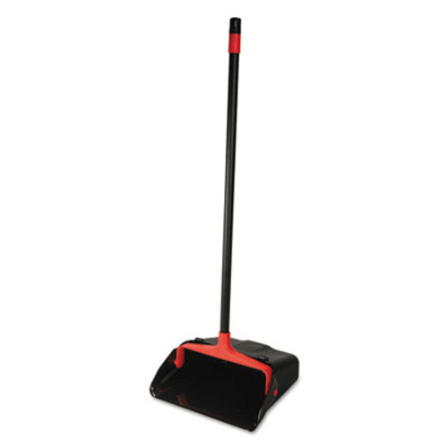O-Cedar Commercial Maxi-Plus Lobby Dust Pan with Rear Wheels  Black  13 Wide  30 Handle  6 Carton (DVOCB962082)