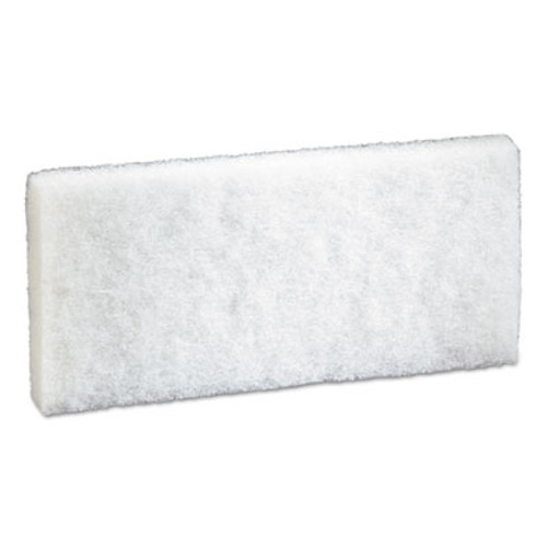 3M Doodlebug Scrub Pad  4 6  x 10   White  5 Pack  4 Packs Carton (MMM08003)