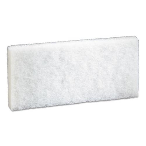 3M Doodlebug Scrub Pad  4 6  x 10   White  5 Pack  4 Packs Carton (MMM08003)