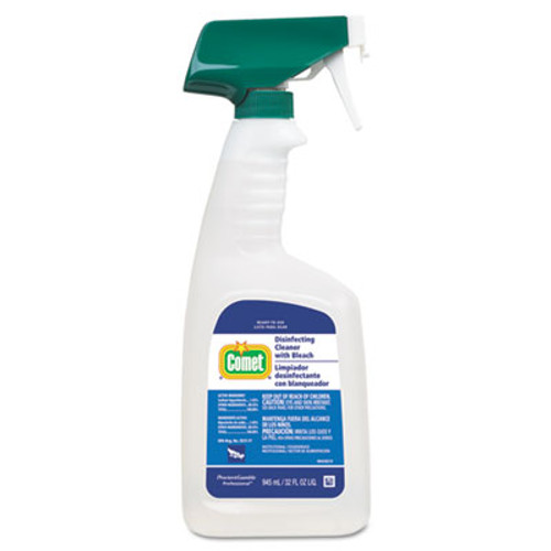Comet Disinfecting Cleaner w Bleach  32 oz  Plastic Spray Bottle  Fresh Scent  8 Carton (PGC30314CT)