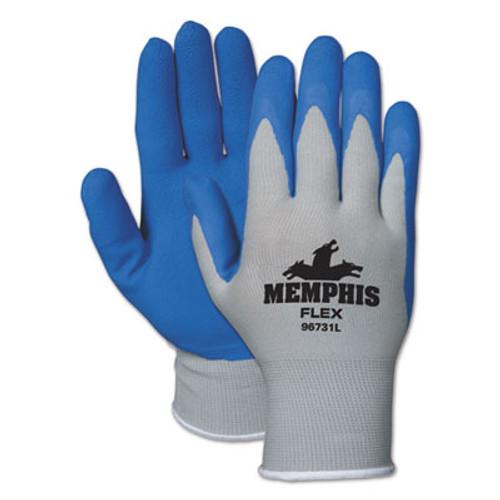 Memphis Memphis Flex Seamless Nylon Knit Gloves, Medium, Blue/Gray, Dozen (CRW96731MDZ)