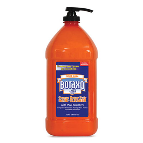 Boraxo Orange Heavy Duty Hand Cleaner  3 Liter Pump Bottle  4 Carton (DIA06058CT)