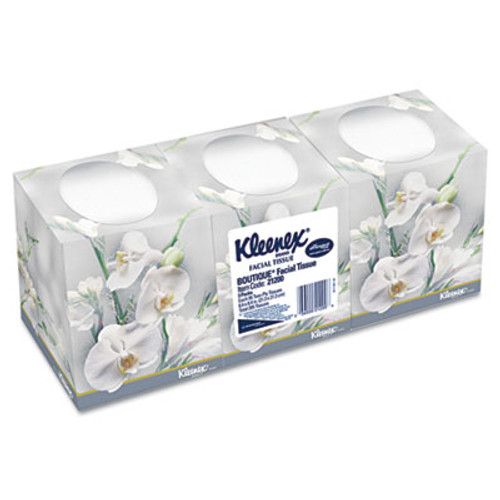 Kleenex Boutique White Facial Tissue  2-Ply  Pop-Up Box  95 Sheets Box  3 Boxes Pack  12 Packs Carton (KCC21200CT)