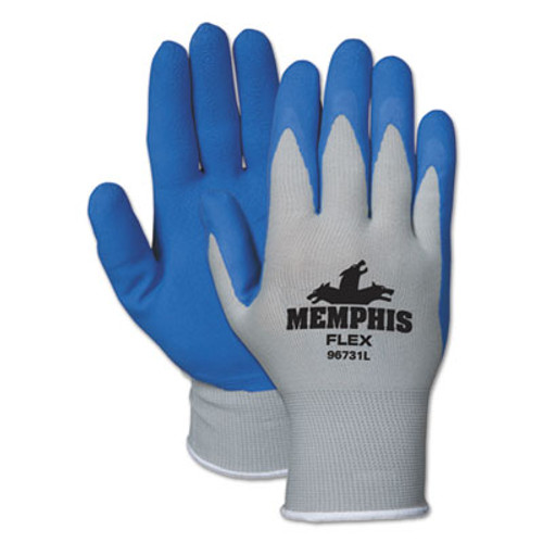 MCR Safety Memphis Flex Seamless Nylon Knit Gloves  X-Large  Blue Gray  Dozen (CRW96731XLDZ)