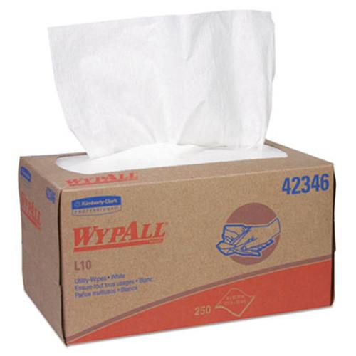WypAll L10 Towels  POP-UP Box  1-Ply  10 1 4 x 9  White  250 Box (KCC42346)
