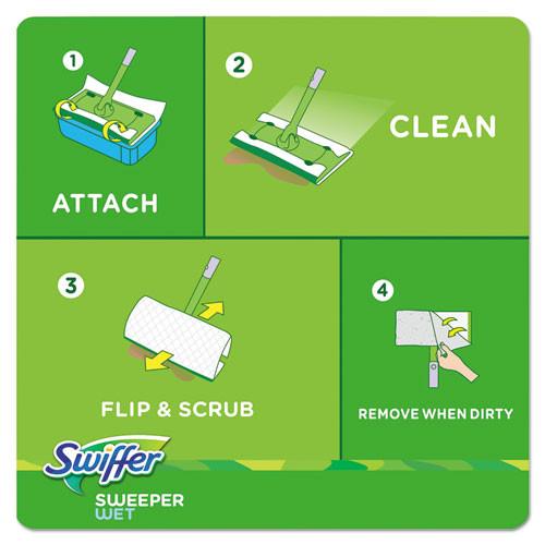 Swiffer Wet Refill Cloths  Open Window Fresh  Cloth  White  8x10  12 Tub  12Tub Carton (PGC95531CT)