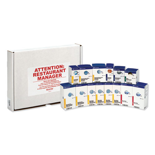 First Aid Only SmartCompliance Restaurant First Aid Cabinet Refill  214-Pieces (FAOFAE8010)