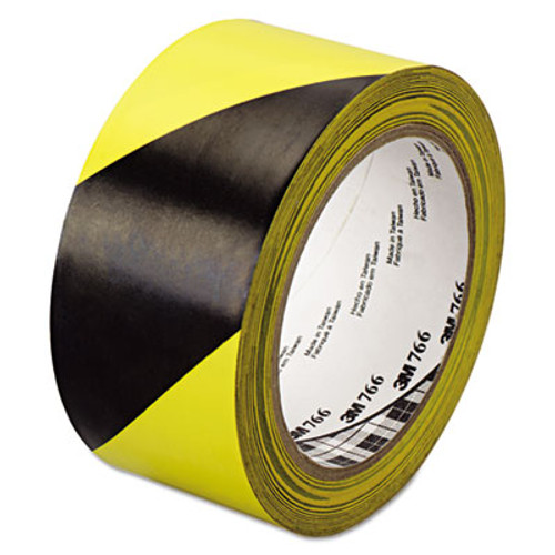 3M 766 Hazard Warning Tape  Black Yellow  2  x 36yds (MMM02120043181)