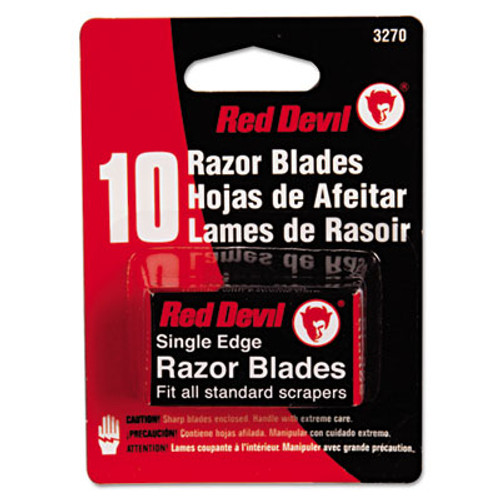 Red Devil Single Edge Scraper Razor Blades, 2 Packs Of 5 Blades (RDL3270)