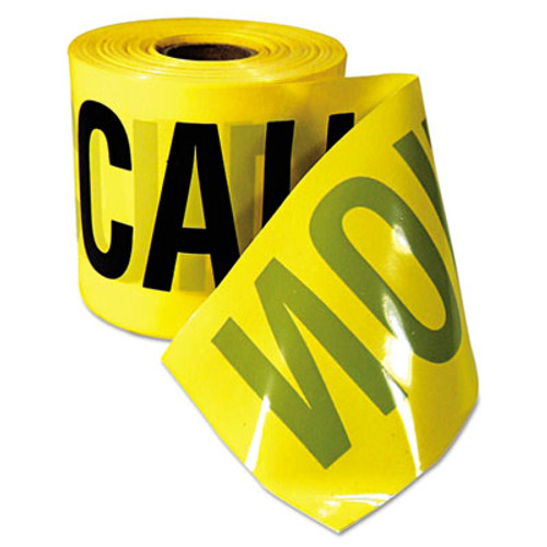 "Empire Caution Barricade Tape, ""Caution Cuidado"" Text, 3""x200ft, Yellow w/Black Print (EML770201)"