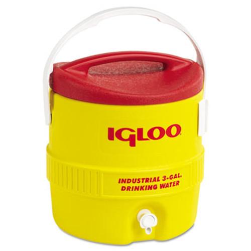 Igloo Industrial Water Cooler  3 gal  Yellow Red (IGL431)