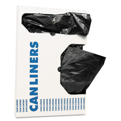 AccuFit Linear Low Density Can Liners with AccuFit Sizing  16 gal  1 mil  24  x 32   Black  250 Carton (HERH4832TKX01)