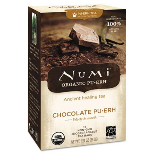Numi Organic Tea  Chocolate Puerh  16 Box (NUM10360)