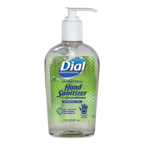 Dial Professional Antibacterial Gel Hand Sanitizer with Moisturizer, 7.5 oz, Pump, Fragrance-Free (DIA01585EA)