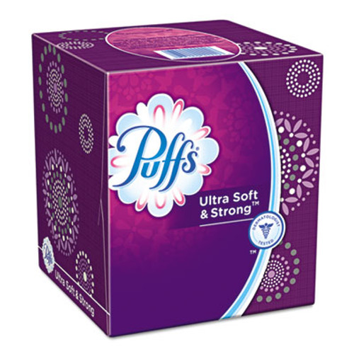 Puffs Ultra Soft and Strong Facial Tissue, Two-Ply, White, 56 Sheets/Box (PGC35038BX)