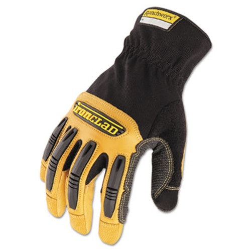 Ironclad Ranchworx Leather Gloves  Black Tan  Large (IRNRWG204L)
