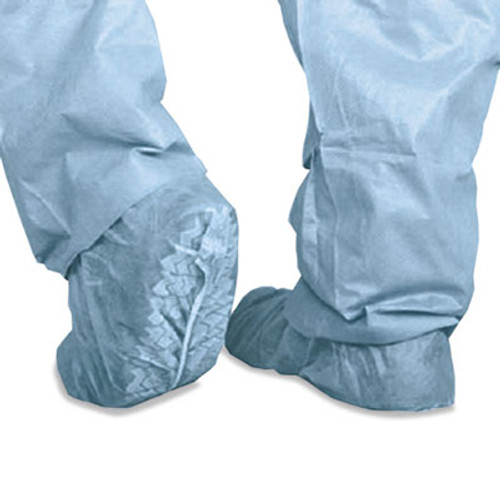 Medline Polypropylene Non-Skid Shoe Covers  Large  Blue  100 Box (MIICRI2002)