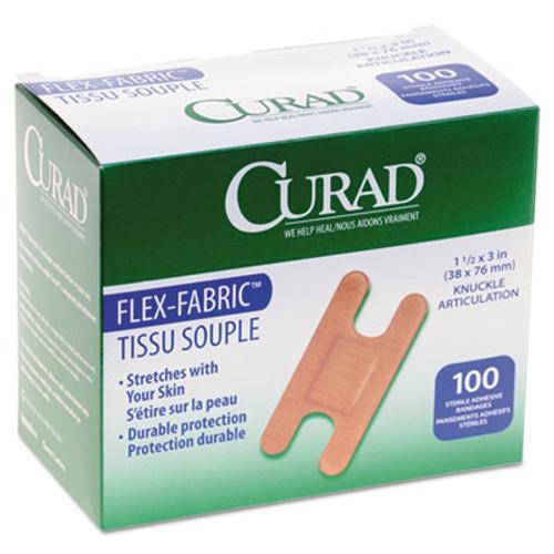 Curad Flex Fabric Bandages  Knuckle  100 Box (MIINON25510)