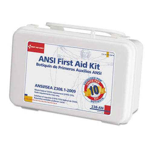 First Aid Only ANSI-Compliant First Aid Kit  64 Pieces  Plastic Case (FAO238AN)