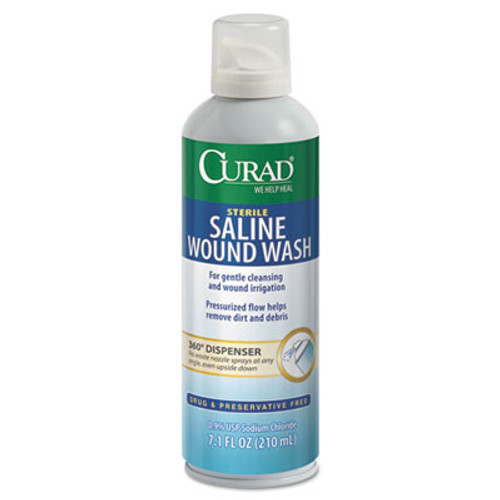 Curad Sterile Saline Wound Wash, 7.1 oz Bottle (MIICURSALINE7)