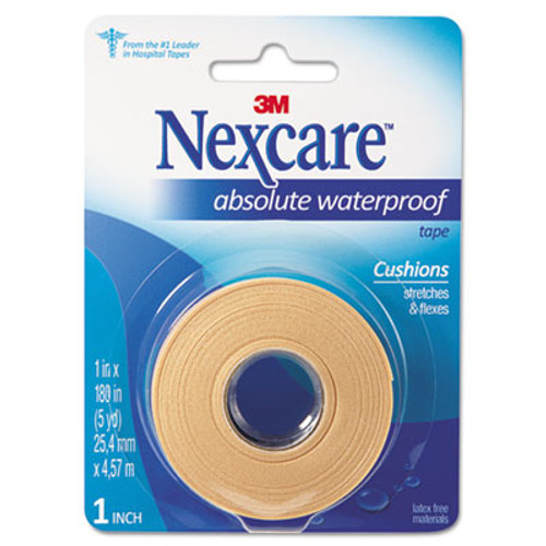 "3M Nexcareâ""¢ Absolute Waterproof First Aid Tape, Foam, 1"" x 180"" (MMM731)"