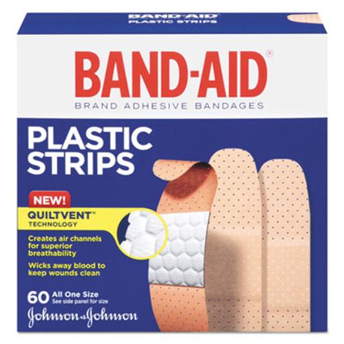 BAND-AID Plastic Adhesive Bandages  3 4 x 3  60 Box (JOJ100563500)