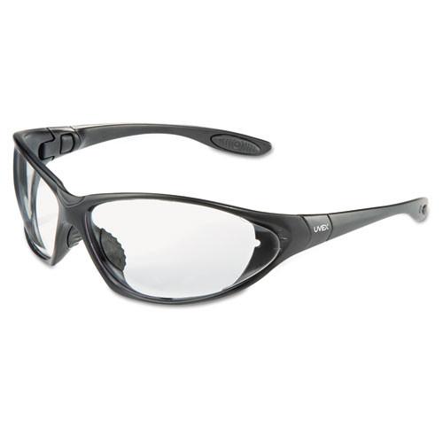 Honeywell Uvex Seismic Sealed Eyewear  Clear Uvextra AF Lens  Black Frame (UVXS0600X)