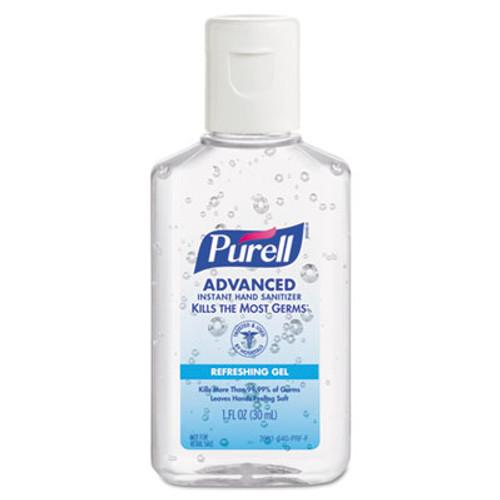 PURELL Advanced Hand Sanitizer Refreshing Gel  Clean Scent  1 oz Bottle  250 Carton (GOJ39012C250)