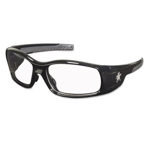 MCR Safety Swagger Safety Glasses  Black Frame  Clear Lens (CRWSR110)