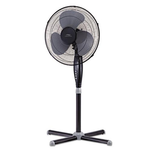 "Lakewood 16"" Three-Speed Oscillating Pedestal Fan, Three Speed, Metal/Plastic, Black (LAKLSF1610CBM)"