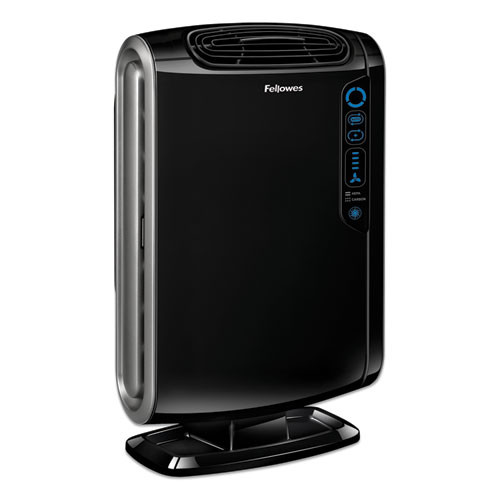 Fellowes HEPA and Carbon Filtration Air Purifiers  200-400 sq ft Room Capacity  Black (FEL9286101)