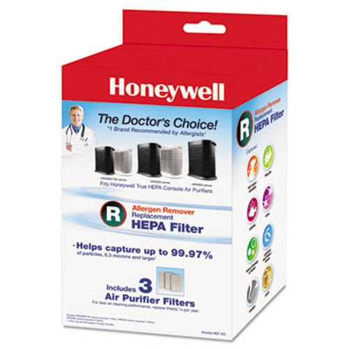 Honeywell Allergen Remover Replacement HEPA Filters, 3/Pack (HWLHRFR3)