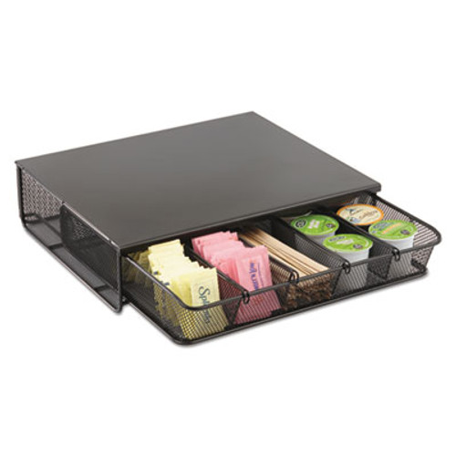 Safco One Drawer Hospitality Organizer  5 Compartments  12 1 2 x 11 1 4 x 3 1 4  Bk (SAF3274BL)