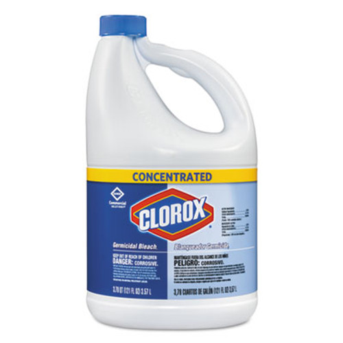 Clorox Concentrated Germicidal Bleach  Regular  121oz Bottle (CLO30966EA)