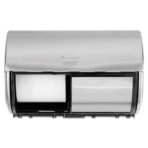 Georgia Pacific Professional Compact Coreless Side-by-Side 2-Roll Dispenser  10 13 x 6 75 x 7 13  Stainless (GPC56798)