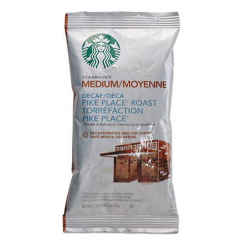Starbucks Coffee  Pike Place Decaf  2 1 2 oz Packet  18 Box (SBK11023061)