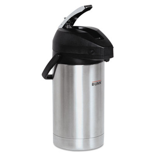 BUNN 3 Liter Lever Action Airpot, Stainless Steel/Black (BUNAIRPOT30)