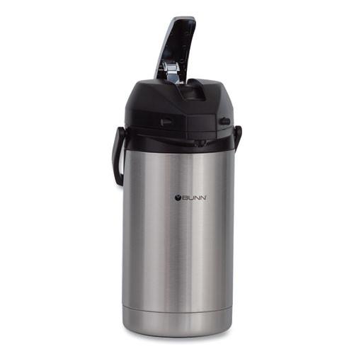 BUNN 3 Liter Lever Action Airpot  Stainless Steel Black (BUNAIRPOT30)