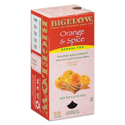 Bigelow Orange and Spice Herbal Tea  28 Box (BTC10398)