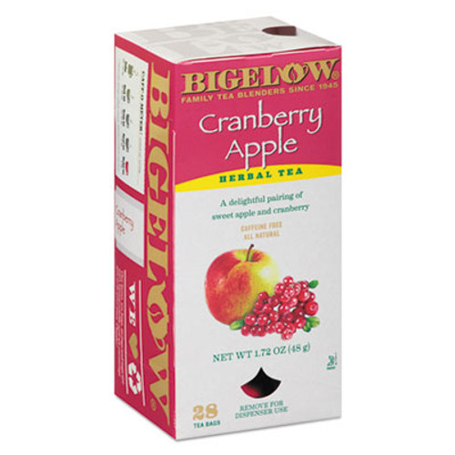 Bigelow Cranberry Apple Herbal Tea, 28/Box (BTC10400)