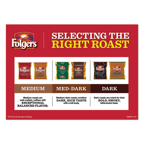 Folgers Ground Coffee Fraction Packs  Traditional Roast  2oz  42 Carton (FOL63006)
