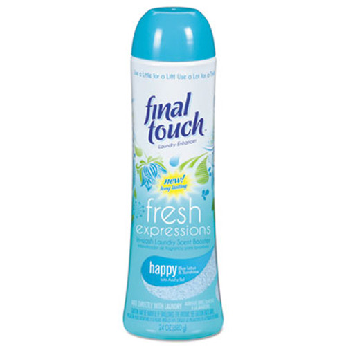 Final Touch Fresh Expressions In-Wash Laundry Scent Booster, 24 oz, Powder, Blue Lotus (PBC58221)