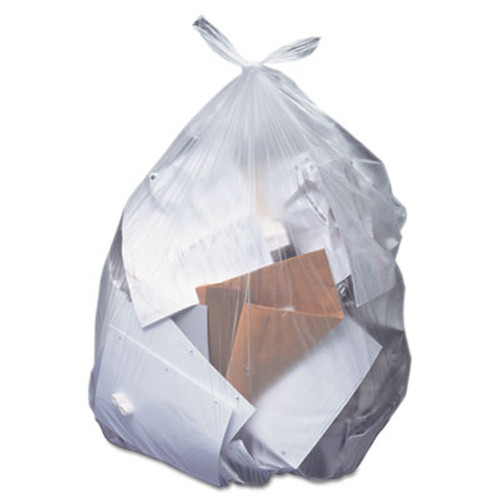 Heritage Low-Density Can Liners, 55 gal, 0.7 mil, 43 x 47, Clear, 100/Carton (HERH8647HC)