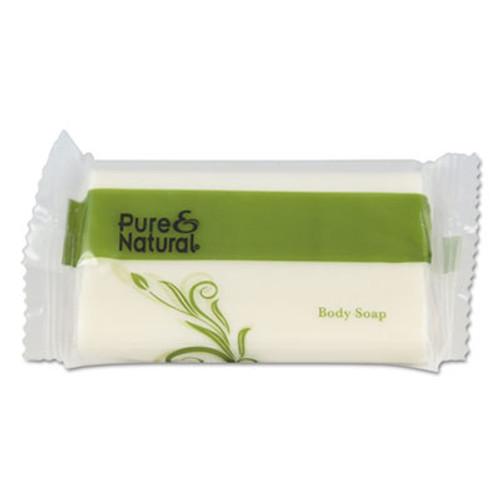 Pure & Natural Body   Facial Soap    1 1 2  Fresh Scent  White  500 Carton (PNN500150)