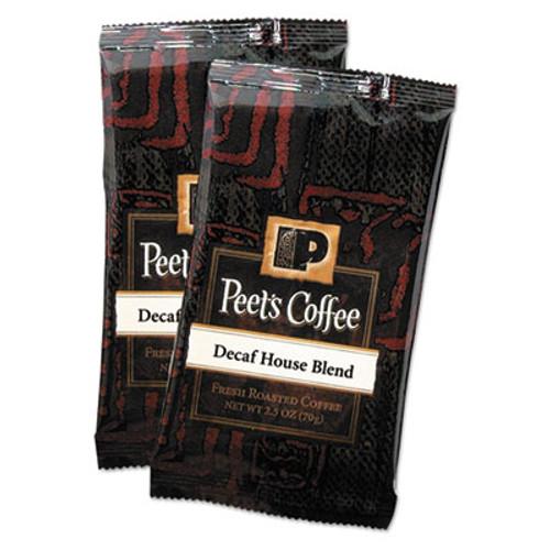 Peet's Coffee & Tea Coffee Portion Packs  House Blend  Decaf  2 5 oz Frack Pack  18 Box (PEE504913)