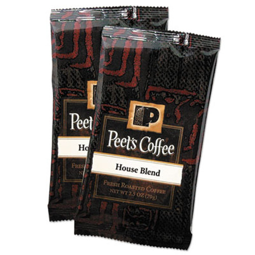 Peet's Coffee & Tea Coffee Portion Packs  House Blend  2 5 oz Frack Pack  18 Box (PEE504915)