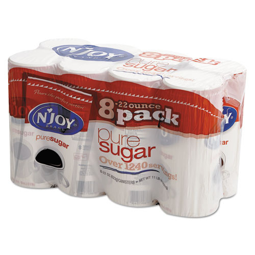 N'Joy Pure Sugar Cane  22 oz Canisters  8 Carton (NJO827820)