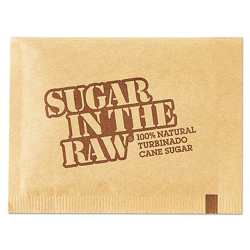 Sugar in the Raw Sugar Packets, Raw Sugar, 0.18 oz Packets, 500 per Carton (SGR827749)