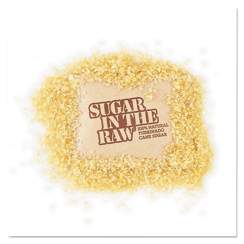 Sugar in the Raw Sugar Packets  Raw Sugar  0 18 oz Packets  500 per Carton (SGR827749)