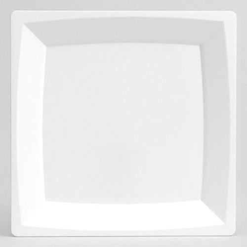 WNA Milan Plastic Dinnerware, Plate, 8.25 in sq, Plastic, White (WNAMS9W)